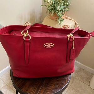 Coach Red Leather Bag (New)